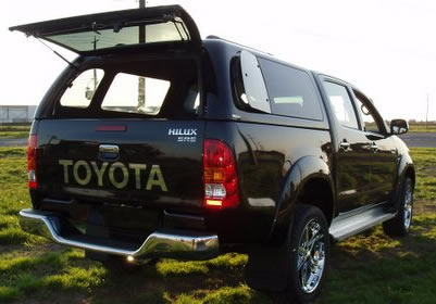 Toyota Hilux Canopy available in regular, super and crew cab.